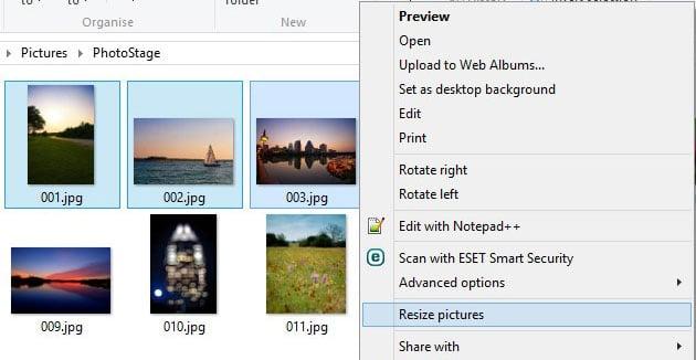 Use Image Resizer to Resize Multiple Photos in Windows 10