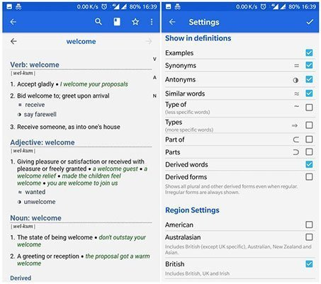 WordWeb – Free Dictionary app for Android