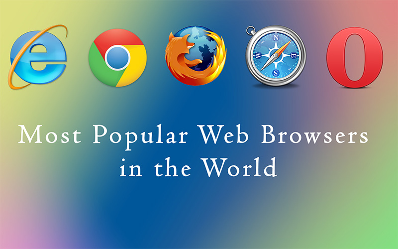most popular web browsers in the world