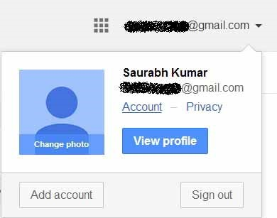 account link in gmail