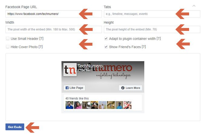 Add Facebook Page Plugin - Facebook Social Plugins