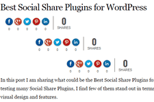 Change default Position of Social Share Buttons in Flare WordPress Plugin