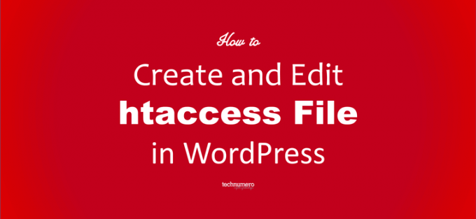 How to Create and Edit WordPress htaccess File