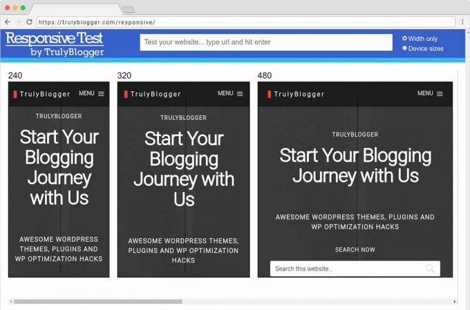 Online Responsive Web Design Testing Tool