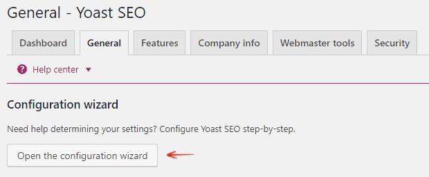Configuration Wizard - Yoast WordPress SEO Plugin