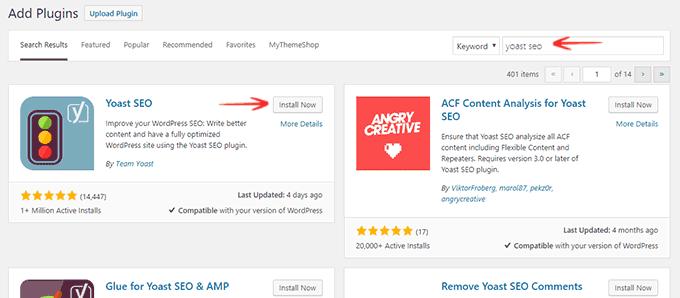 How to install Yoast SEO WordPress Plugin