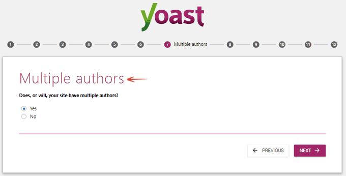 Multiple Authors - Configuration Wizard- Yoast SEO
