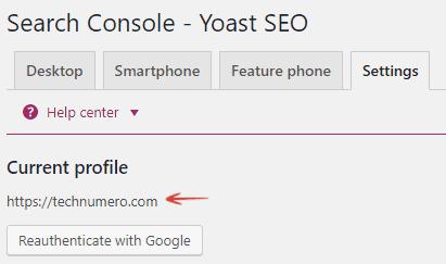 Search Console - Yoast WordPress SEO plugin