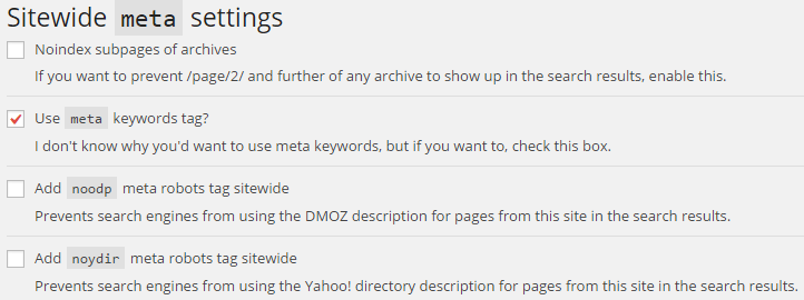 sitewide meta settings