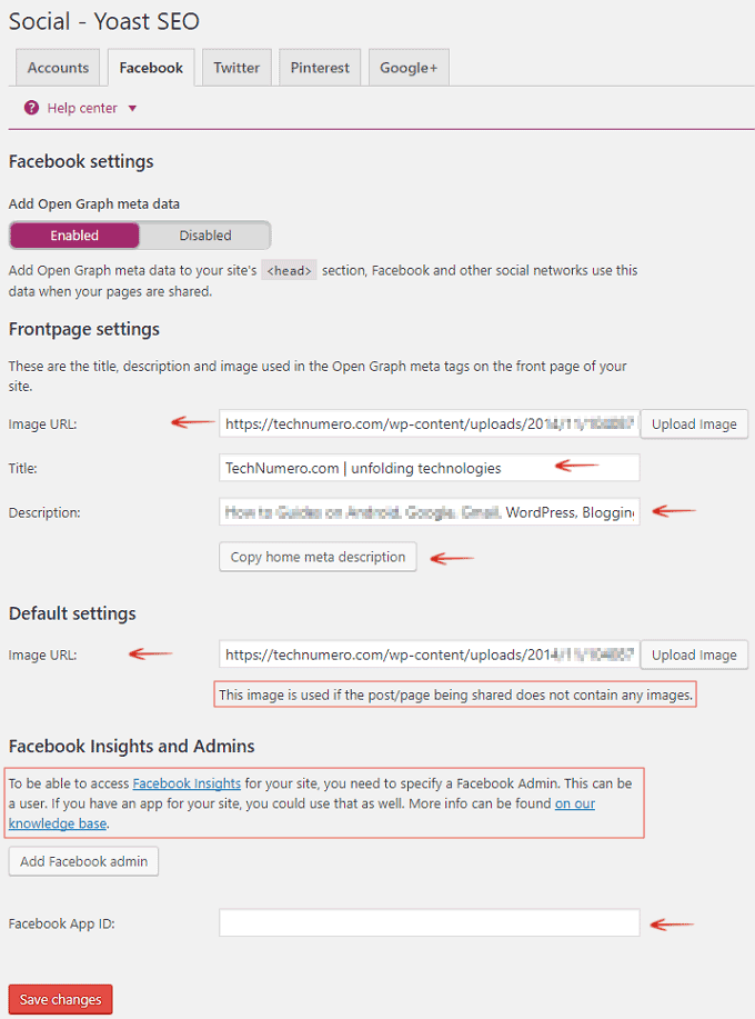 Facebook- Add Open Graph Meta data - Yoast WordPress SEO