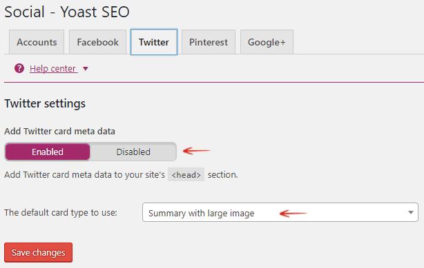 Twitter- Add Twitter Card Meta Data - Yoast WordPress SEO plugin