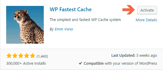 WP Fastest Cache | WordPress Plugin to Fix Leverage Browser Caching Warning