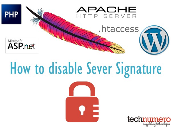 How to disable Server Signature by editing .htaccess/Apache- Technumero.com