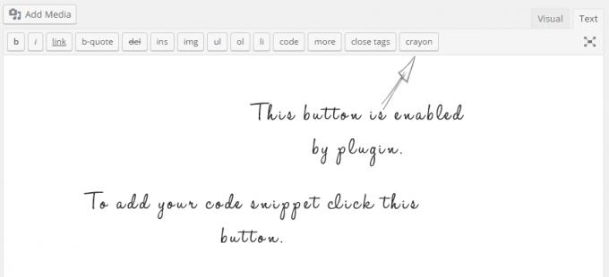 WordPress Editor with Crayon Syntax Highlighter