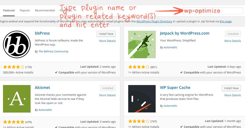plugin directory search