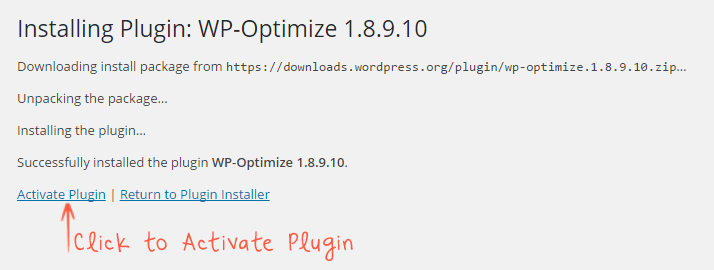 successfully installed the plugin