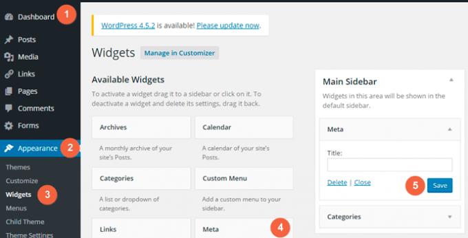 Add Meta Widget on your website