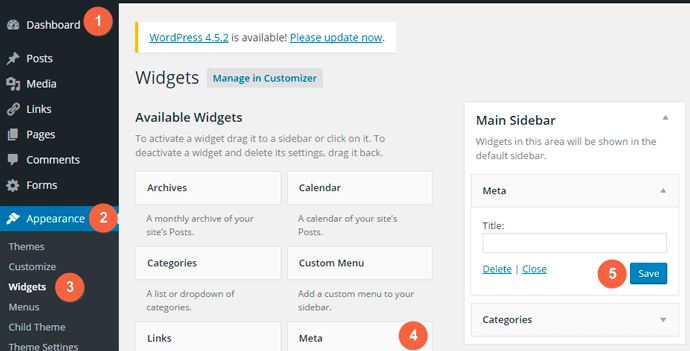 Add Meta Widget on your website