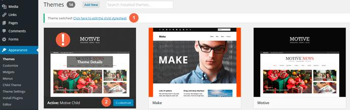 Create Child Theme with WordPress Plugin