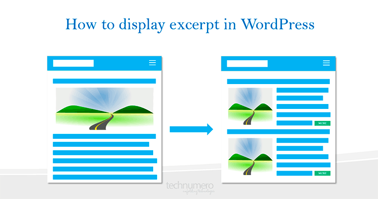 How to Display Excerpt in WordPress Front Page