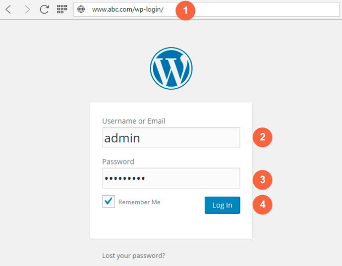 How to Login into WordPress