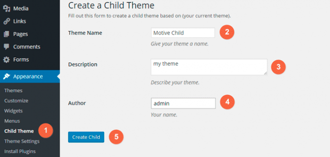 One-Click Child Theme Plugin