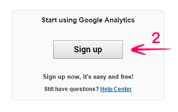 google analytics sign up one