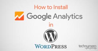 How to install Google Analytics in WordPress