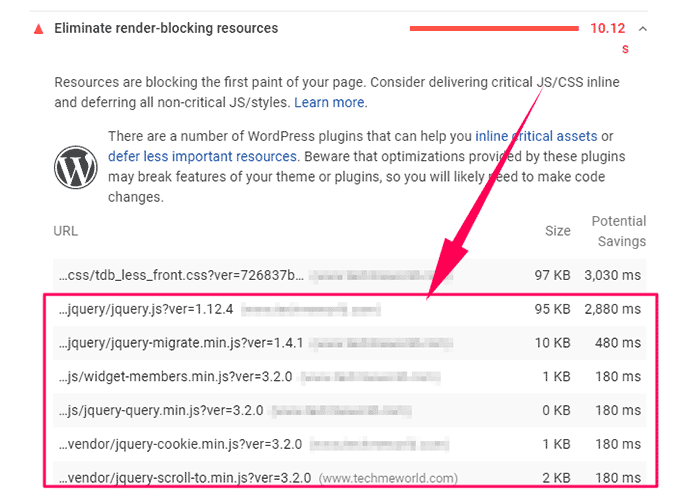 Google PSI - Render blocking resources - JavaScripts to be deferred