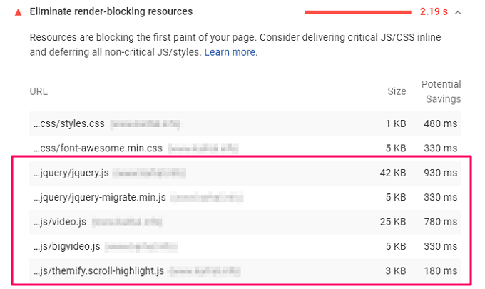 Pagespeed Insights Result before Defer Parsing of JS
