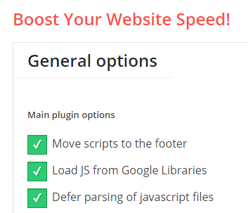 remove render blocking JavaScript in WordPress speed-booster-pack-javascript-settings