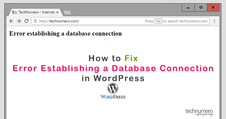Fix Error Establishing a Database Connection in WordPress