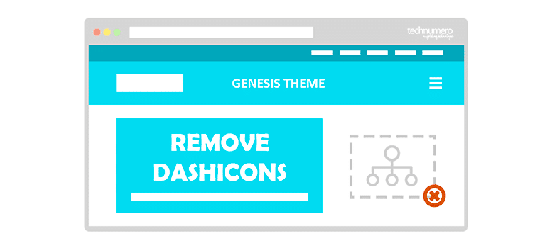 How to Remove Dashicons from Genesis Theme