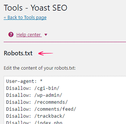Robots.txt in Yoast Seo Plugin - Technumero