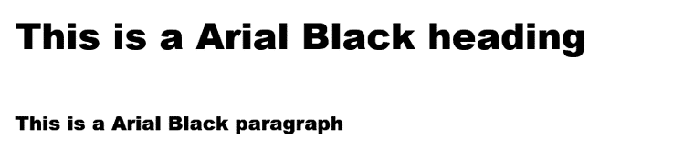 Arial Black Web Safe Font Visual