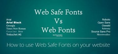 Why [& how] Use Web Safe Fonts over Web Fonts