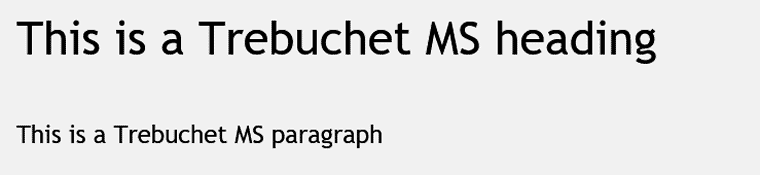 Trebuchet MS Web Safe Font Visual