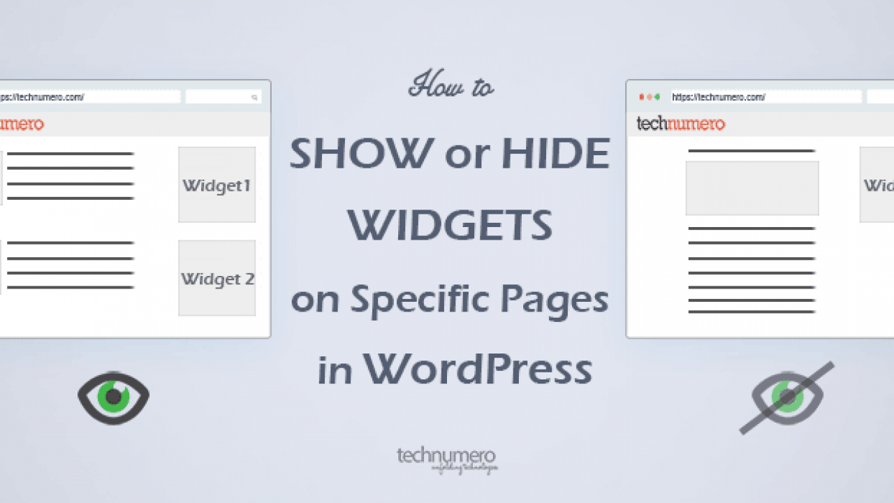 How to Show or Hide Widgets on Specific Pages in WordPress