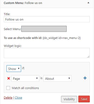 Widgets Visibility Control by Widget Logic Plugin