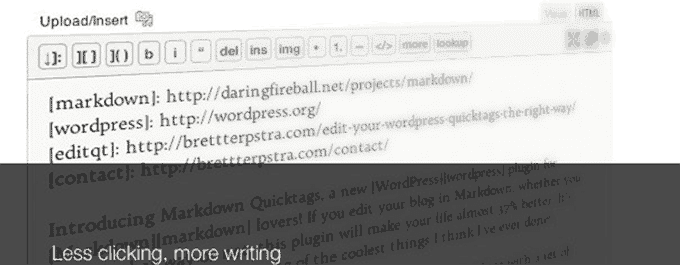 Markdown QuickTags Plugin