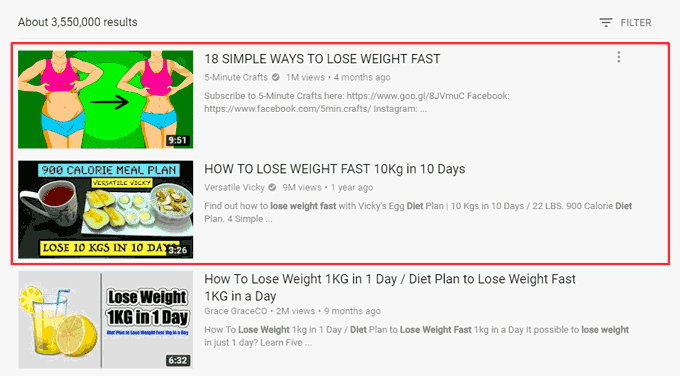 Tips to Lose Weight Fast YouTube Search Result