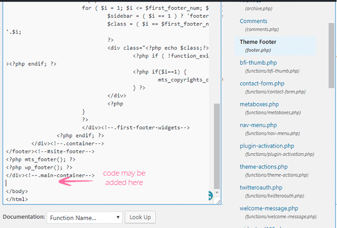 Add code in WordPress Head and Footer Manually