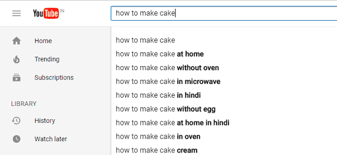 How to Make Cake YouTube Search