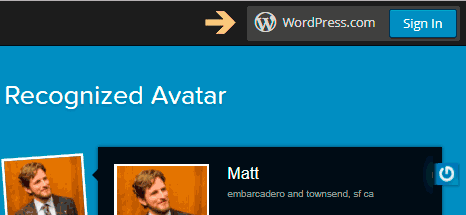 Sign in on Gravatar website
