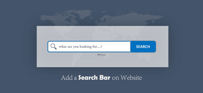Add aSearch Bar to the Home Page