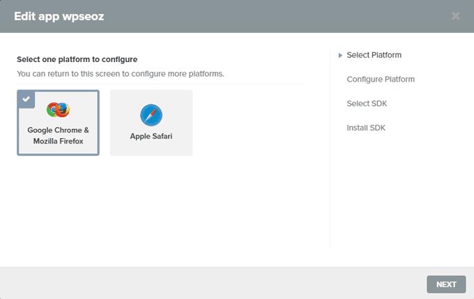 Choose Google Chrome and Firefox for Setup