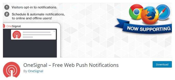 OneSignal – Free Web Push Notifications Plugin