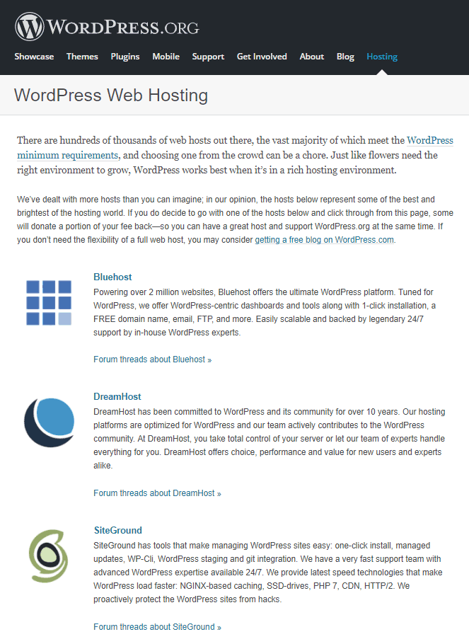 SiteGround Hosting - Recommended by WordPress