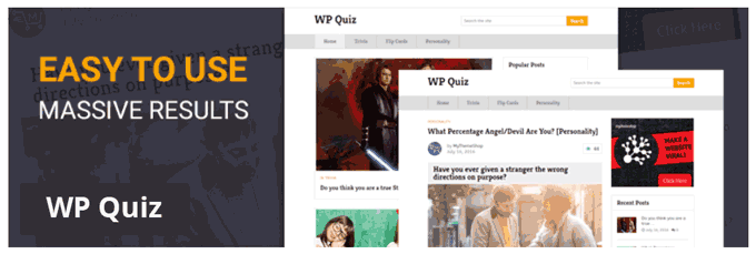 WP Quiz WordPress Plugin