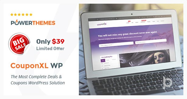 CouponXL WordPress Coupon Theme